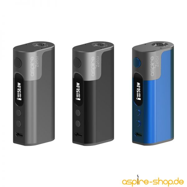 E-Zigaretten Akku (Box/Mod) Zelos von Aspire - 2500mAh - 50 Watt - Aluminiumgehäuse - alles rund um das Dampfen hier im Shop - jetzt einfach online bestellen