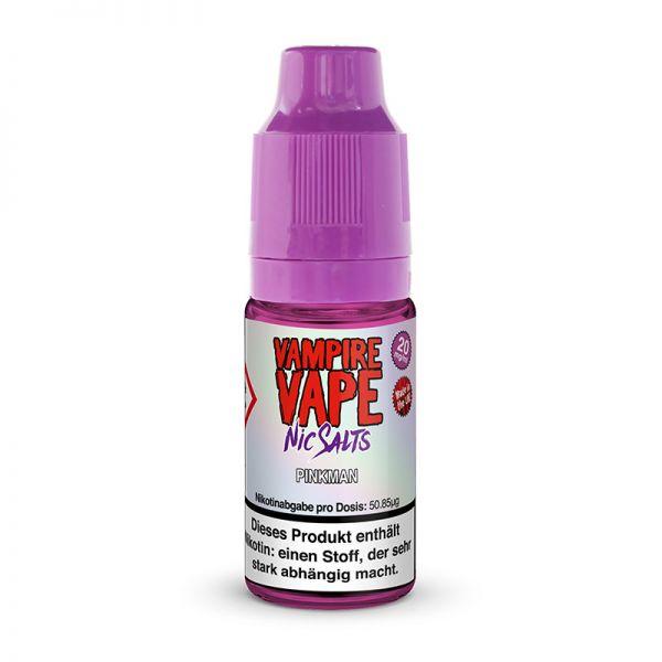 Liquid Nic Salts Pinkman in einem 10ml Fläschchen von Vampire Vape mit 20mg/ml Nikotin. Geschmack: Kühler Früchte und Beeren Mix