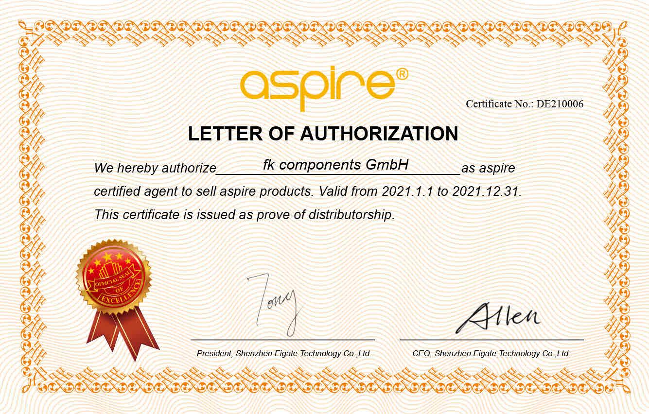 Aspire Zertifikat