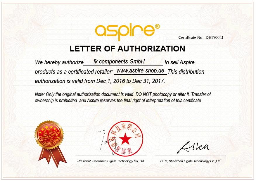 APSIRE Zertifikat 2017