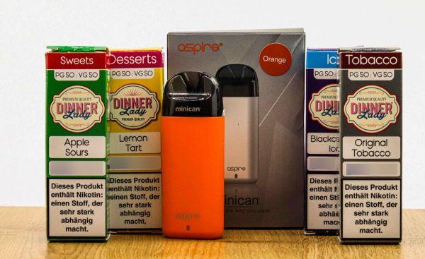 E-Zigaretten Set mit Liquid (Minican und Dinner Lady)