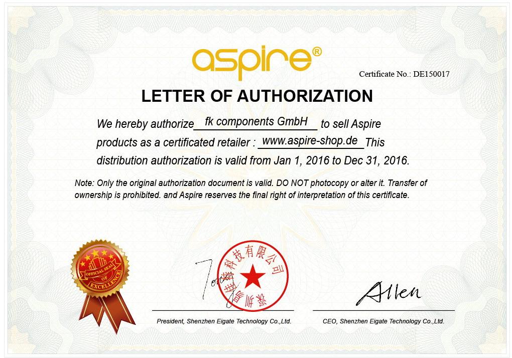 APSIRE Zertifikat 2016